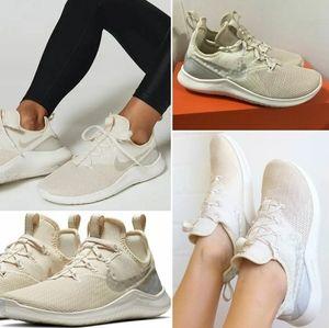Nike Free TR8 Champaigne Sneakers In Light Cream